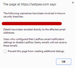 LastPass app informs users of security breaches