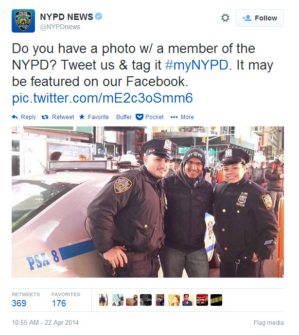 A well-intentioned tweet trying to unite the community with the NYPD turned into a huge hashtag fail, April 22, 2014