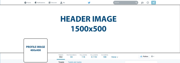 Here's a template for the new header and profile Twitter dimensions for the update starting April 8, 2014.