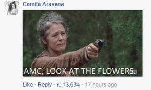 Look at the flowers, AMC...