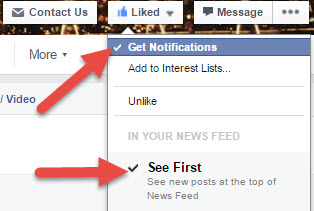 FB Notifications & See First