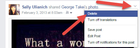 Deleting Facebook Posts