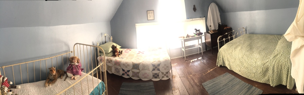 The upstairs children's room in the Villisca Axe Murder house, September 2017.